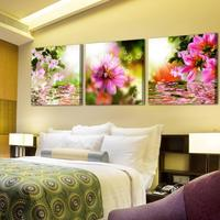 About chrysanthemum wallpaper home decor oil painting on canvas for living room cafe bar wall sticker pictures RM ZH 008