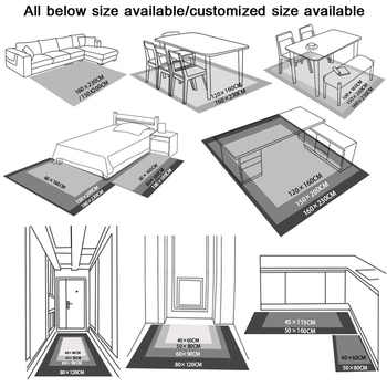 SunnyRain 1 ชิ้นโบฮีเมียพรมสำหรับห้องนั่งเล่นพรมสั้น Plush Bed พรมขนาดใหญ่ลื่นไถลความต้านทานห้องครัวพรม