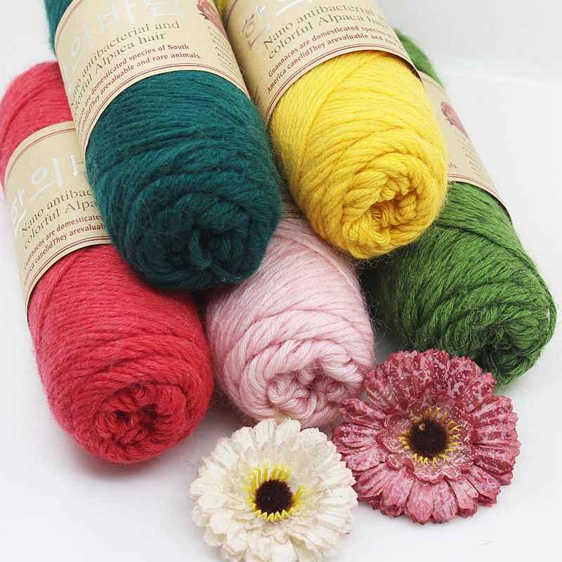100G/Banyak 140 M Kualitas Tinggi Alpaca Tebal Benang Merajut Natural Mink Kasmir Benang Merino Wol Crochet Tangan Merajut