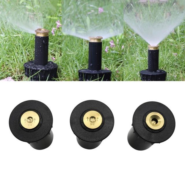 "90 360 Degree Pop up Sprinklers Plastic Lawn Watering Sprinkler Head Adjustable Garden Spray Nozzle 1/2"" Female Thread 1 Pc"