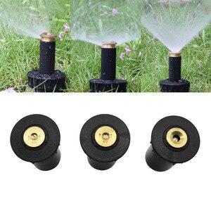 """Image 1 - Rociadores Pop up de 90 360 grados cabeza de riego de césped de plástico boquilla de pulverización ajustable para el jardín hilo femenino de 1/2 """", 1 ud."""