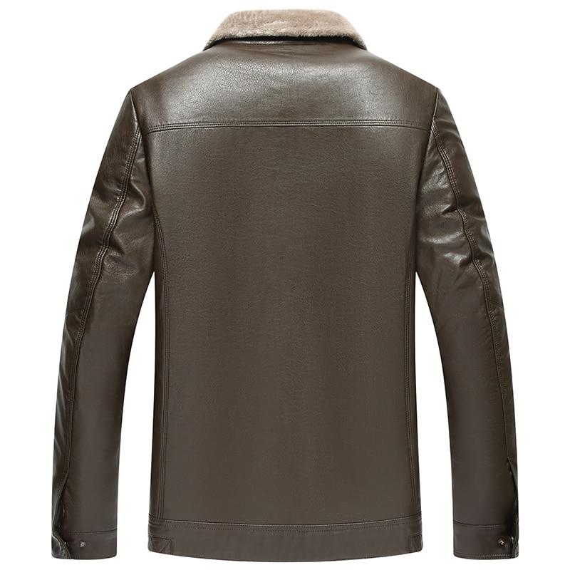 Haute qualité hommes veste en cuir 2019 nouveau solide col montant imperméable homme Faux cuir manteau jaqueta de couro masculina 9816 - 2