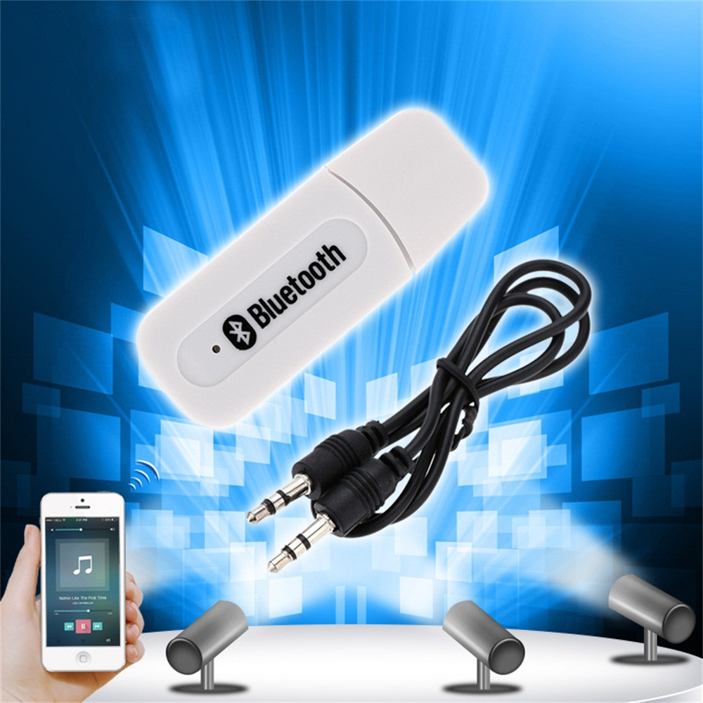 Wireless Bluetooth V4.1+ EDR A2DP 3.5mm USB Handsfree Home Car Kit AUX Audio Stereo Music Receiver Adapter For IOS Android