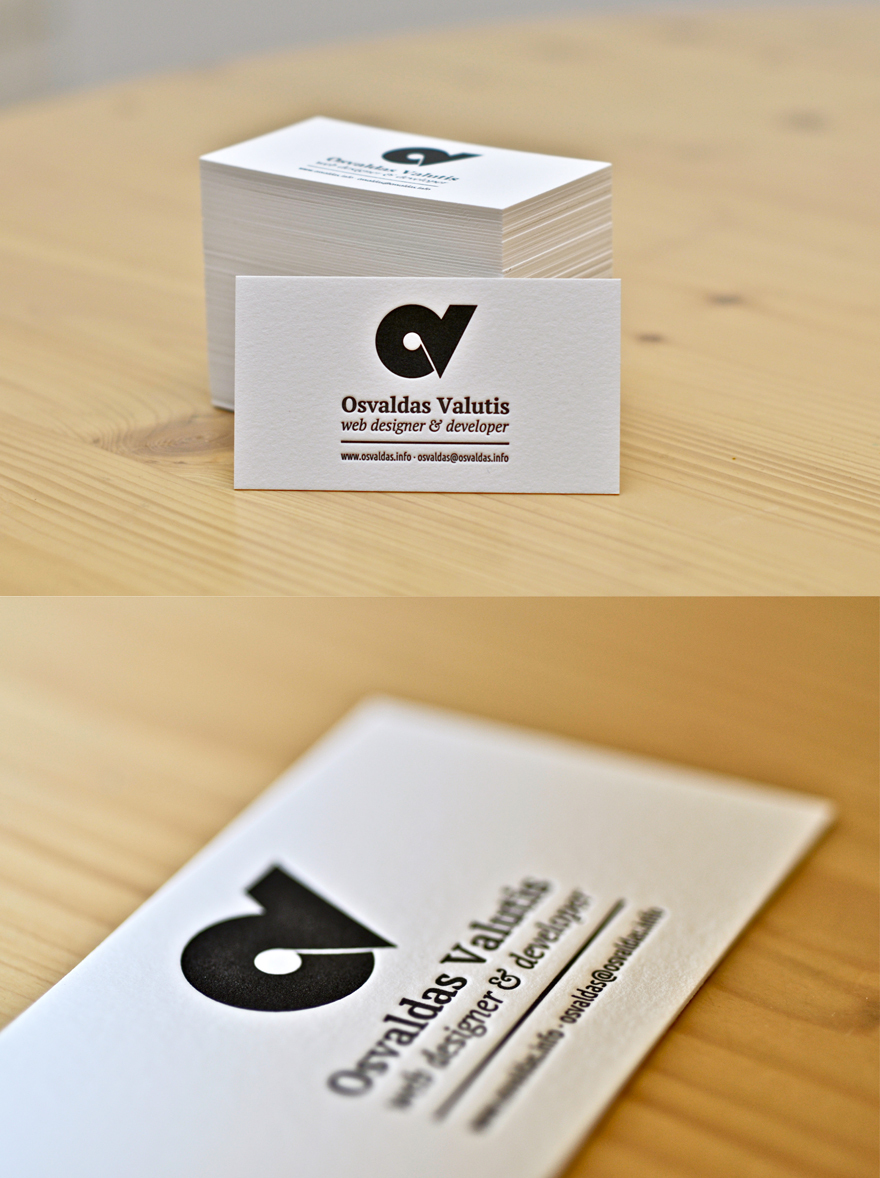 New Arrival Custom Debossed Business Cards High Grade Cotton Paper ...