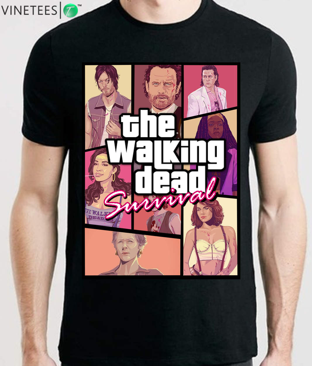 THE WALKING DEAD TWD SEASON 9 RICK GRIMES DARYL DIXON NEEGAN MAGGIE MENS T Shirt  Cool Casual Pride T Shirt Men Unisex New