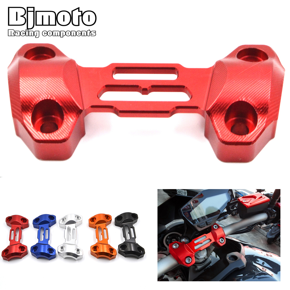 BJMOTO Motorcycle CNC Aluminum Handlebar Risers Top Cover Clamp For Yamaha MT-09 FZ9 2013 - 2018 Moto Parts bjmoto hot sale orange motorcycle cnc aluminum handlebar risers top cover clamp fit for ktm duke 390 200 125 dirt bike