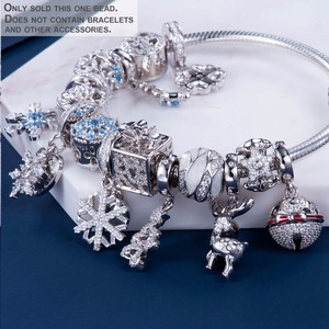 Image 4 - Video! Christmas Bells Genuine 925 Sterling Silver Charm Beads Fit Original Bracelet Necklace Authentic Jewelry DDBJ110
