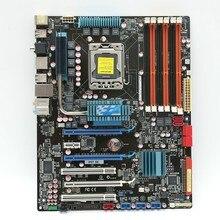 Used original для asus p6t se ddr3 lga 1366 24 ГБ для i7 cpu трехканальный все твердые X58 desktop материнская плата Бесплатно доставка
