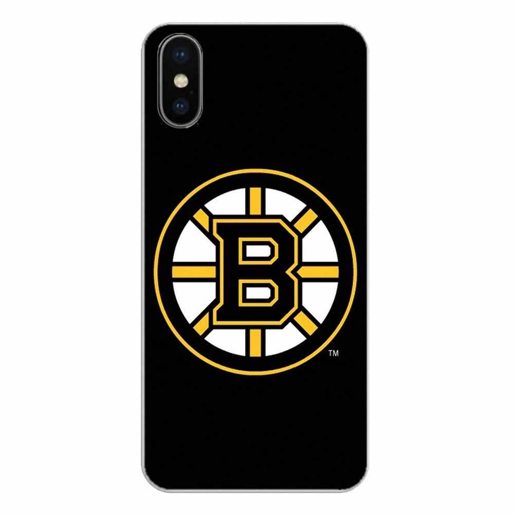 Para Huawei P Inteligente Y6 P8 P9 P10 Plus Nova P20 Lite Pro Mini 2017 SLA-L02 SLA-L22 2i Boston Bruins hóquei No gelo de Silicone Caso de Telefone