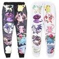 Новая мода мужчины/женщины мультфильм бегунов брюки 3D печати мультфильм покемон пикачу тощие штаны хип-хоп брюки