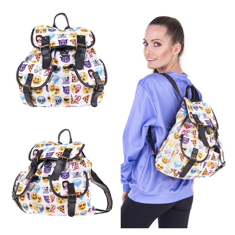 Shiv Naresh Teens Boxing Gloves 12oz: Fashion Women Backpack Youth 3D Emoji Backpacks For