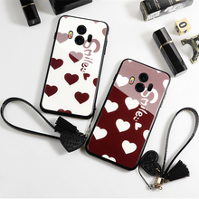 Case & Strap For Huawei Mate 9 Pro 10 Lite Glass Hard Phone Cover Smile Love Heart lanyard funda