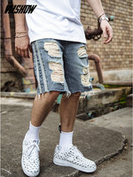 VIISHOW Men's Shorts Brand Summer Male Denim Shorts 2019 New Fashion Ripped Jeans Short Masculino Cotton Bermuda ND1440182