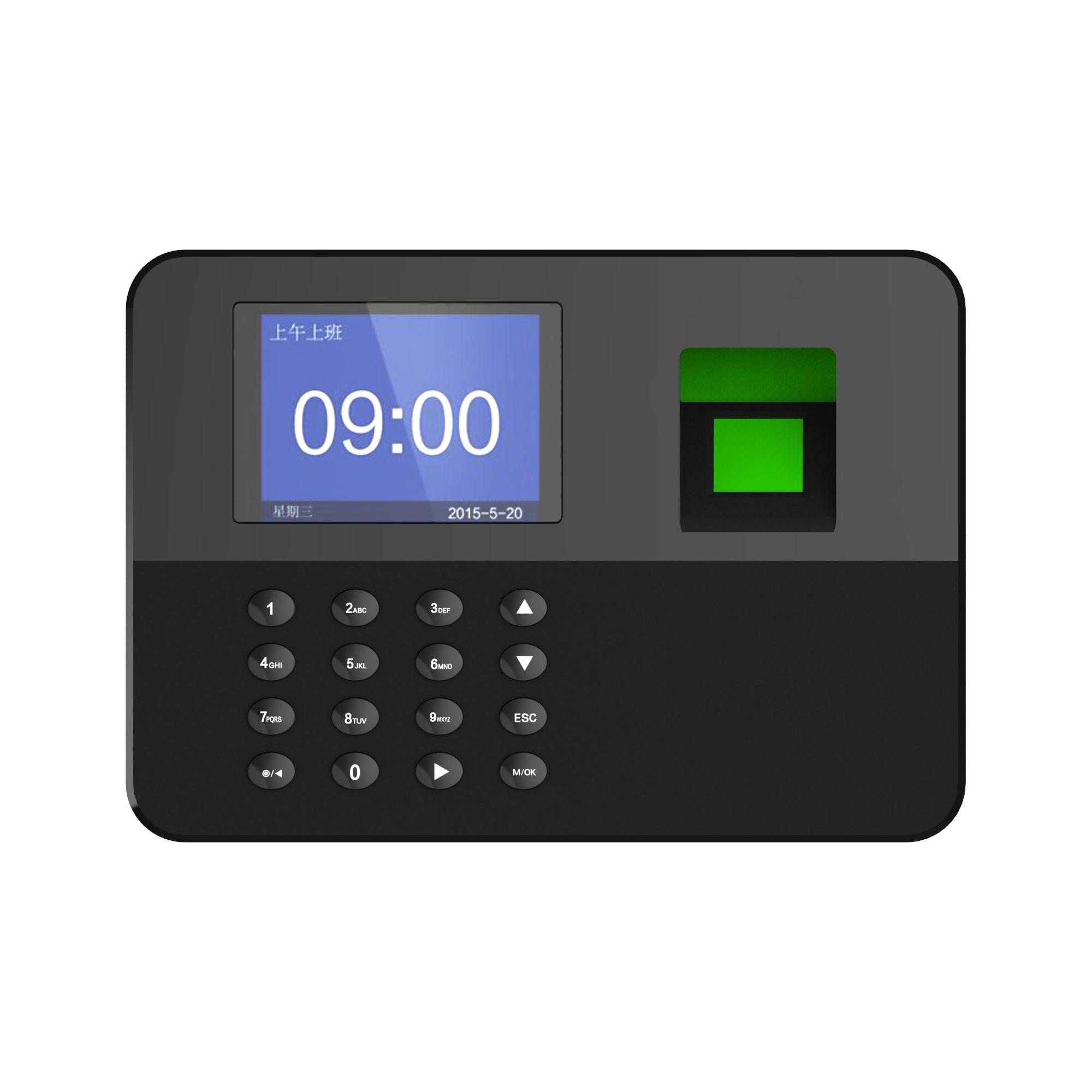 NETUM Biometric Fingerprint Password Attendance Machine with 2.4 inch LCD Screen Employee Management Time Clock Multi-language
