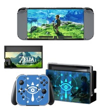 лучшая цена The Legend of Zelda Decal Vinyl Skin Sticker for Nintendo Switch NS Console + Controller + Stand Holder Protective Skin Sticker