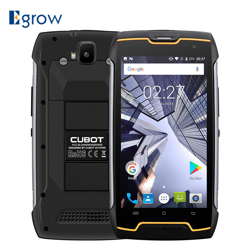 Originale Cubot KingKong IP68 Impermeabile Shockproof Antipolvere MT6580 Quad Core Del Telefono Mobile 5.0 di pollice HD 2 gb di RAM 16 gb ROM 4400 mah