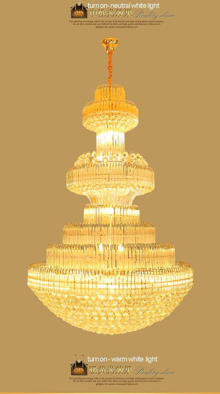 Gouden kristallen kroonluchter Moderne kroonluchters Verlichting - Binnenverlichting - Foto 6