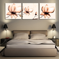 2016 Wall Art Cuadros Decoracion Unframed 3 Sets Wall Painting Lotus Home Decorative Cheap Art Picture Paint On Canvas Prints