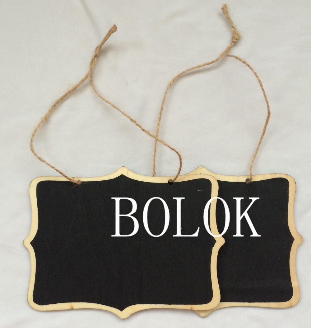10pcs Hanging Blackboard Signs larger size with string hair signage - Wedding sign - Table Number