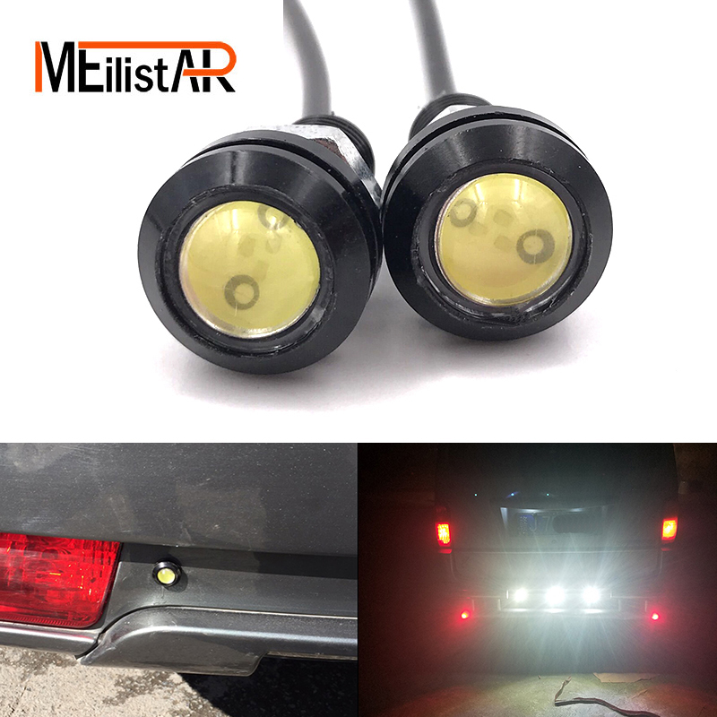 Car styling 18MM Led Eagle Eye DRL Daytime Running Lights Source Backup Reversing Parking Signal Lamps Waterproof Free Shippin new arrival a pair 10w pure white 5630 3 smd led eagle eye lamp car back up daytime running fog light bulb 120lumen 18mm dc12v