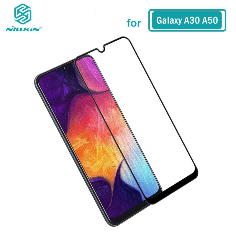 Gehärtetem Glas für Samsung Galaxy A10 A20 A30 A40 A50 A60 A70 Nillkin CP + 2.5D Volle Kleber Film sFor samsung Galaxy A50 Glas