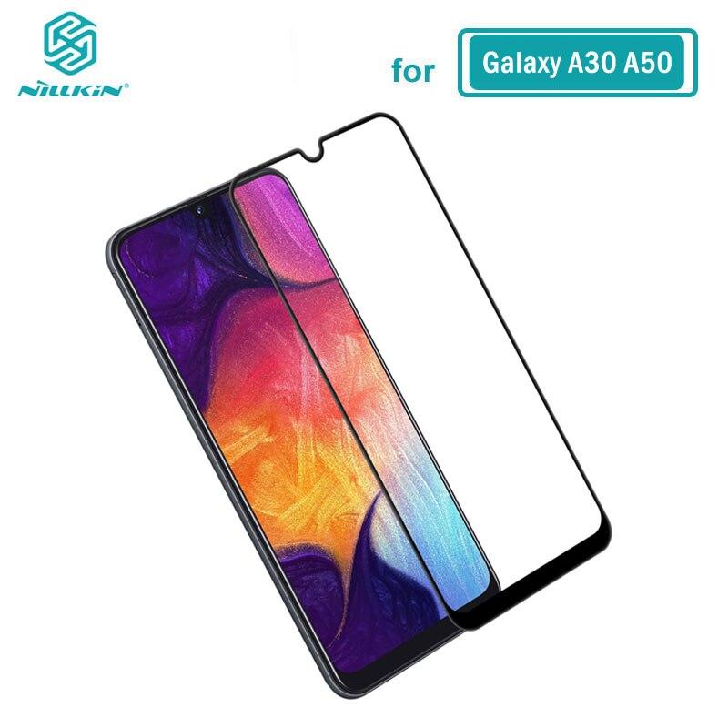 Verre trempé pour Samsung Galaxy A10 A20 A30 A40 A50 A60 A70 Nillkin CP + 2.5D Film de colle complet pour Samsung Galaxy A50 verre
