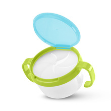 Infant Baby Feeding Snacks Bowl Anti Spill 360 Rotate Double
