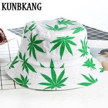 Nueva hoja de algodón cubo sombrero hombres mujeres impreso Panamá Bob  Fisherman Cap verano al aire 30ff3d6229b