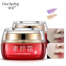 Red pomegranate Whitening Face Cream Long Lasting Moisturize Oil Control Skin Care Concealer Pores Nude MakeUp Base
