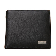 Fashion New Genuine Leather Men Wallets Brand Quality Black Brown Coin Pocket Purse ID Credit Card Holder Wallet Free Shipping