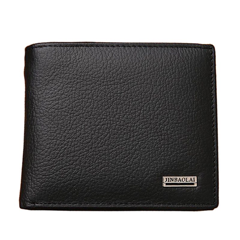 Fashion New Genuine Leather Men Wallets Brand Quality Black Brown Coin Pocket Purse ID Credit Card Holder Wallet Free Shipping wholesale price fashion new bright pattern women wallets long zipper pocket hasp quality credit card holder wallet free shipping