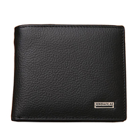 Fashion New Genuine Leather Men Wallets Brand Quality Black Brown Coin Pocket Purse ID Credit Card