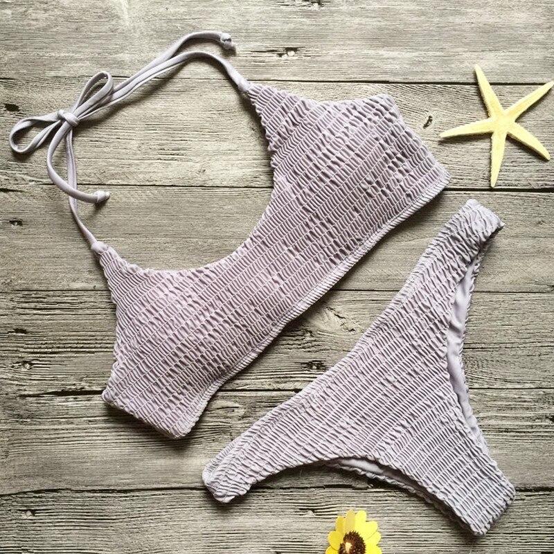 2017 Folding Bikini Set Swimsuit Sexy Swimwear Bathing Suit For Women Biquni