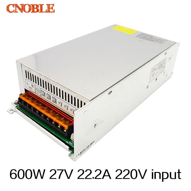 цена на 600W 27V 22.2A 220V input Single Output Switching power supply AC to DC free shipping