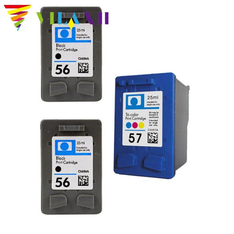 где купить  vilaxh Compatible for HP56 57 Ink Cartridges for HP 56 57 For HP D1368 D1468 D2360 D2368 3538 3558 3658 Printer ink  по лучшей цене