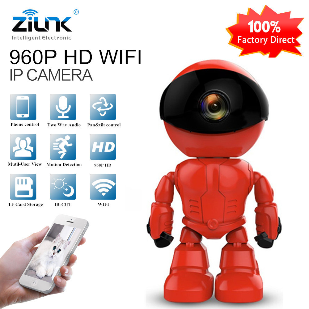 ZILNK 960P 1.3MP HD Wireless WI-FI IP Camera Robot Night Vision Two way Audio Network Home Security Baby Monitor YOOSEE View daytech wifi camera ip 960p home security camera wi fi p2p two way audio ir night vision network baby monitor wireless hd 960p