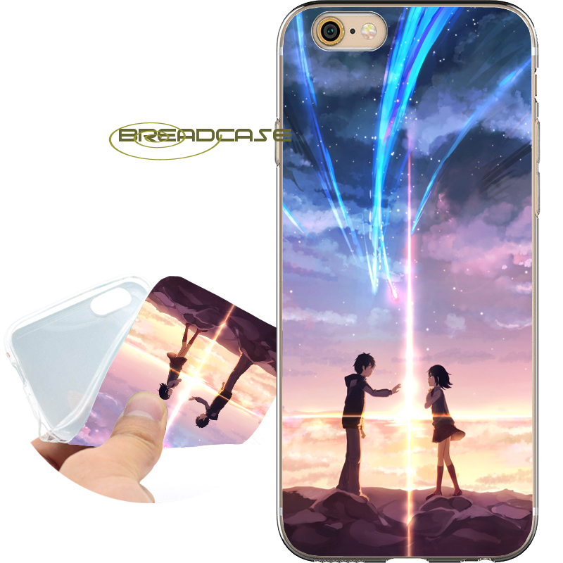 Fundas Anime Your Name Soft Clear TPU Silicone Phone Cases for iPhone X 8 7 6S 6 Plus 5S SE 5 5C 4S 4 Case iPod Touch 6 5 Cover.