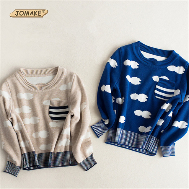Stripe Baby Boys Sweaters 2016 Autumn And Winter Kids Pullover Knitted Pattern Handsome Boys Tops Casual Children Clothing