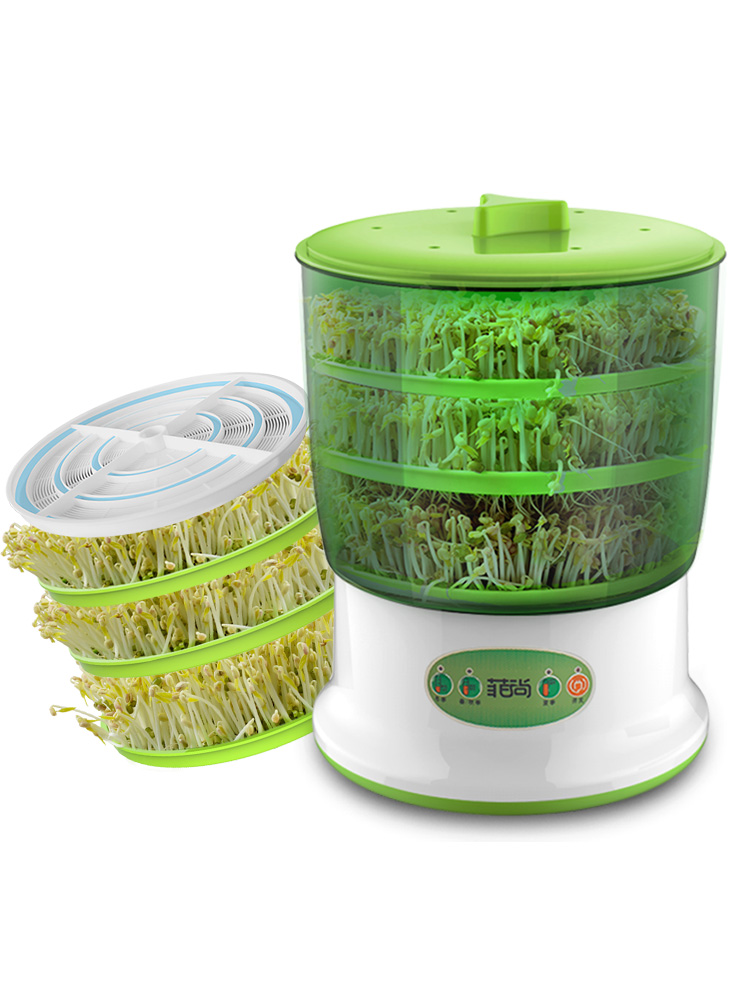ZA12 2/3 layer Automatic Bean Sprout Machine Homemade Sprout Bud Machine Bean Sprouts Maker 360 rotation Water spray with platen prefab sprout prefab sprout steve mcqueen