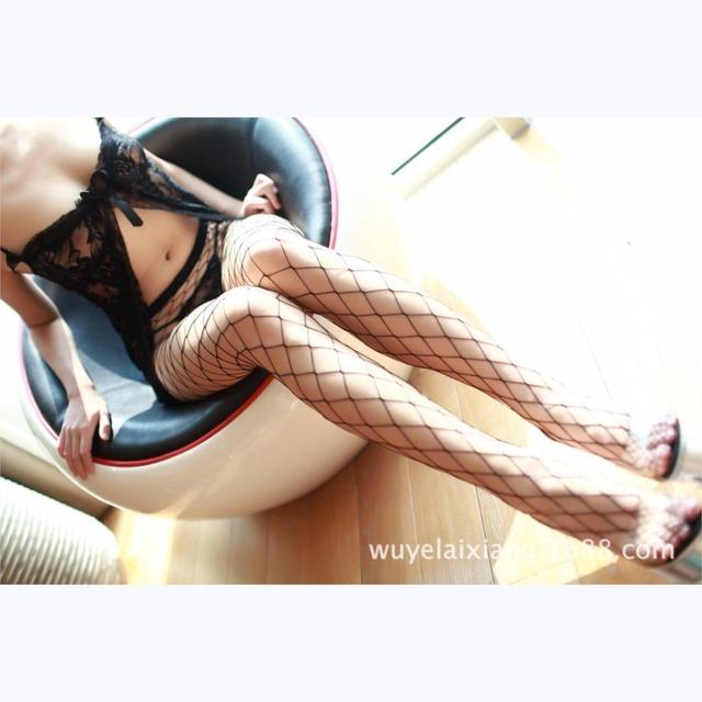 2017 Sexy Lingerie hot Babydoll Sexy Underwear All-match Series Large Mesh Even Net Stockings Beautiful Leg Temptation Bigeye