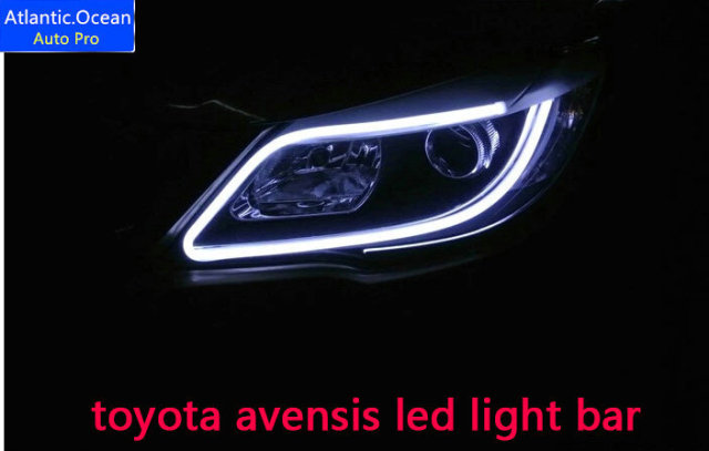 Autoo avensis led light bar decorative light strip car styling pro avensis led light bar decorative light strip car styling led headlight decoration strip aloadofball