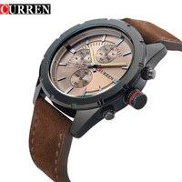 CURREN 2016 Luxury Men Watch Brand Design Fashion Casual Leather Sport Men Quartz Watches 8154