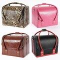 2016 nueva moda Portable impermeable mujeres bolsa maquillaje maquillaje Beauty Case almacenamiento organizador caja de viaje Multicolors