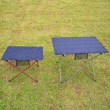 2 boyutları kamp masası taşınabilir katlanabilir katlanır masalar yürüyüş seyahat açık piknik masası profesyonel 6061 alüminyum alaşımlı
