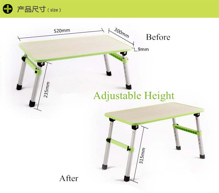 Height Adjustable Laptop Table Computer Notebook Bed Stand Folding Lapdesk  For All Notebook Within 17 Inch Aluminum Legs In Lapdesks From Computer U0026  Office ...