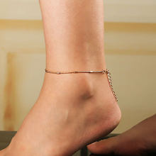 Crystal Sequins Anklet Set For Women Beach Foot jewelry Vintage Statement Anklets Boho Style Party Summer Jewelry(China)