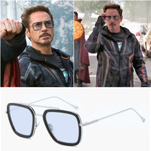 Samjune Spider-Man:Homecoming Edith Sunglasse Iron Man Tony Stark Sunglasses for Men(China)