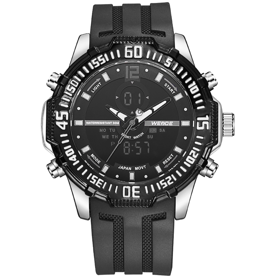 Famous Brand Weide Watch Men Military Watches Sports Silicone Strap Relogio Masculino 30 Meters Waterproof Causal Male Quartz weide new men quartz watch multiple time zone sports watch waterproof back light men watches alarm clock relogio masculino