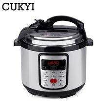 CUKYI 5л многофункциональная программируемая сковорода с замедленным давлением, антипригарная плита 900 Вт, электрическая скороварка из нержавеющей стали