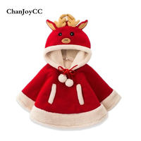 ChanJoyCC Winter Hot Sale Children S Warm Christmas Coat Baby Boys Girls Long Sleeve Hooded Fashion
